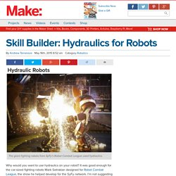 Skill Builder: Hydraulics for Robots