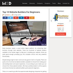 Top Website Builders For Beginners