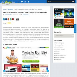 Best Free Website Builders That Create Great Websites