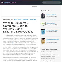 Website Builders: A Complete Guide to WYSIWYG and Drag-and-Drop Options