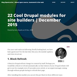 22 Cool Drupal modules for site builders