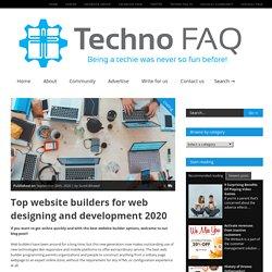 Top website builders for web designing and development 2020