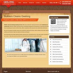 Builders Cleans Geelong