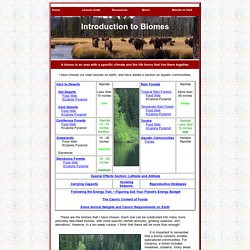 World Builders: Introduction to Biomes