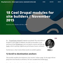 18 Cool Drupal modules for site builders