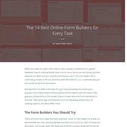 The 14 Best Online Form Builders for Every Task - The Ultimate Guide to Forms and Surveys