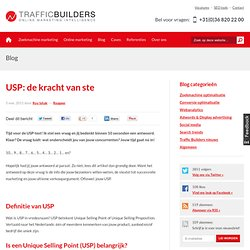 USP: de kracht van 'ste' - Traffic Builders zoekmachinemarketing