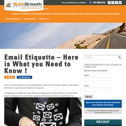 Email Etiquette – Here is What you Need to Know ! - BuildGrowth Accountants