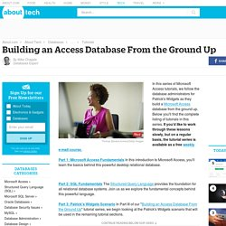 Building an Access Database From the Ground Up