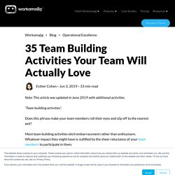 35 Team Building Activities Your Team Will Actually Love