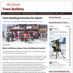 Team Building Activities for Adults