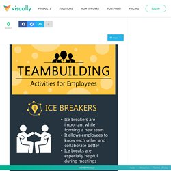 Various team building activities for employees