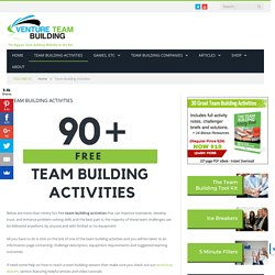 60 Team Building Activities