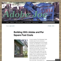 Earthships ibebrenda pearltrees for Adobe construction cost