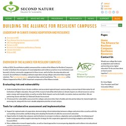 Building the Alliance for Resilient Campuses