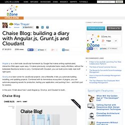 Chaise Blog: building a diary with Angular.js, Grunt.js and Cloudant