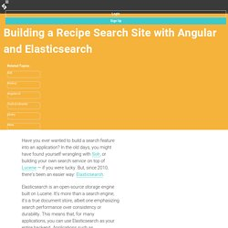 Building a Recipe Search Site with Angular and Elasticsearch
