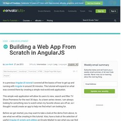Building a Web App From Scratch in AngularJS