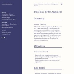 Building a Better Argument – Annenberg Classroom