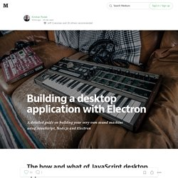 Building a desktop application with Electron