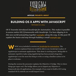 Building OS X Apps with JavaScript by Tyler Gaw