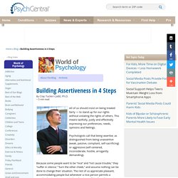 Building Assertiveness in 4 Steps