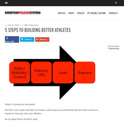 5 Steps to Building Better Athletes - Robertson Training Systems