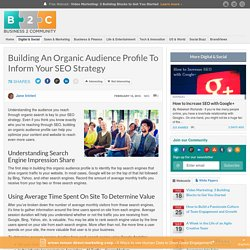 Building An Organic Audience Profile To Inform Your SEO Strategy
