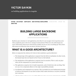 Building Large Backbone Applications