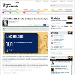 Link Building 101: How to Conduct a Backlink Analysis