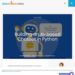 Building an AI based Chatbot in Python