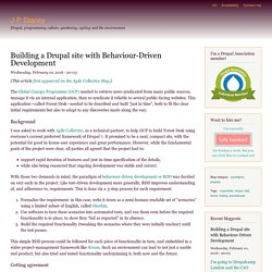 Building a Drupal site with Behaviour-Driven Development