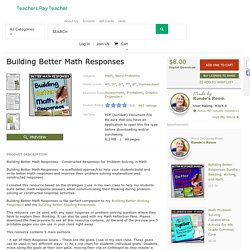 Building Better Math Responses by Runde's Room