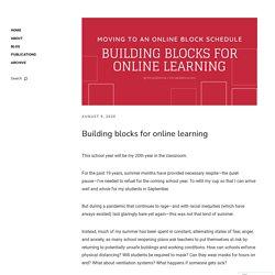 Building blocks for online learning
