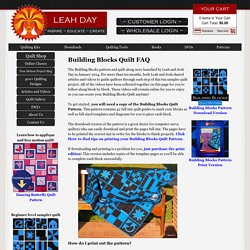 Building Blocks Quilt FAQ