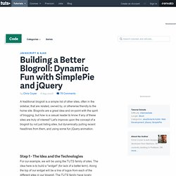 Building a Better Blogroll: Dynamic Fun with SimplePie and jQuery
