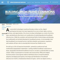 Building Broadband Commons