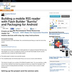 "Building a mobile RSS reader with Flash Builder ""Burrito"""