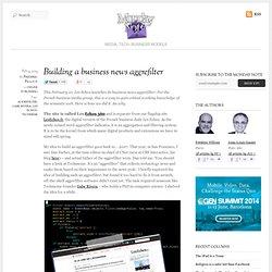 Building a business news aggrefilter