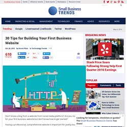 30 Tips for Building Your First Business Website
