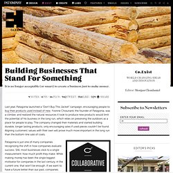 Building Businesses That Stand For Something