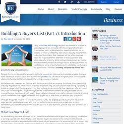 Building A Buyers List (Part 1): Introduction