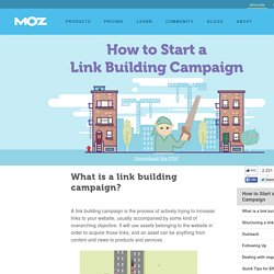 How to Start a Link Building Campaign - Beginner's Guide to Link Building