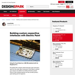 Building custom capacitive interfaces with Electric Paint