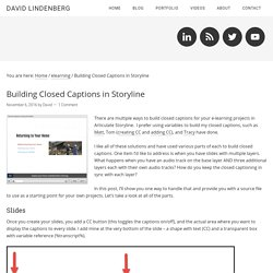 Building Closed Captions in Storyline