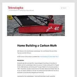 Home Building a Carbon Moth