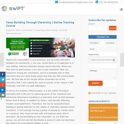 Team Building Through Chemistry, Online Corporate Training Course