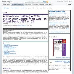 GDI+: A Primer on Building a Color Picker User Control with GDI+