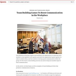 Team Building Games To Boost Communication in t... - Wedding and Team Building Venues - Quora