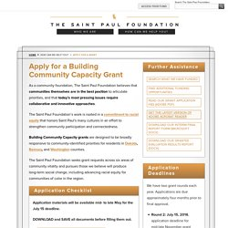 Apply for a Building Community Capacity Grant - The Saint Paul Foundation